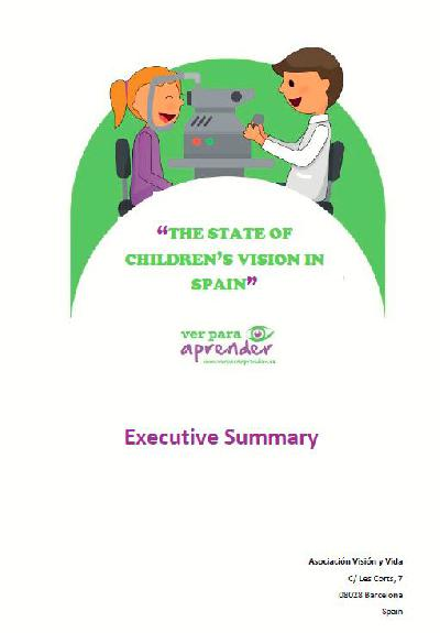 The state of children's vision in Spain 2017