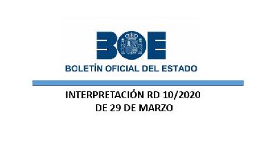 Real Decreto 10/2020 y SÍNTESIS