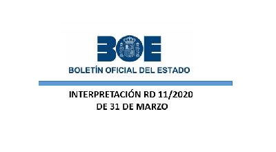 Real Decreto-ley 11/2020 - Resumen